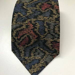 Mulberry abstract silk tie - made by hand
